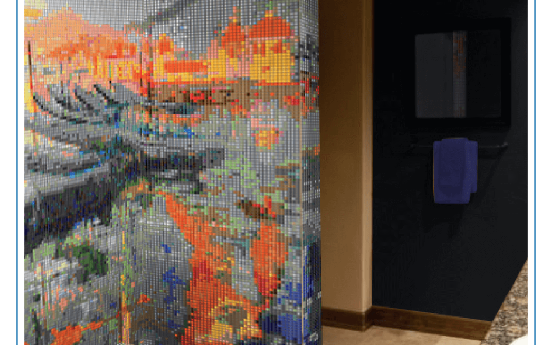 Bathroom glamour with Art into Mosaic