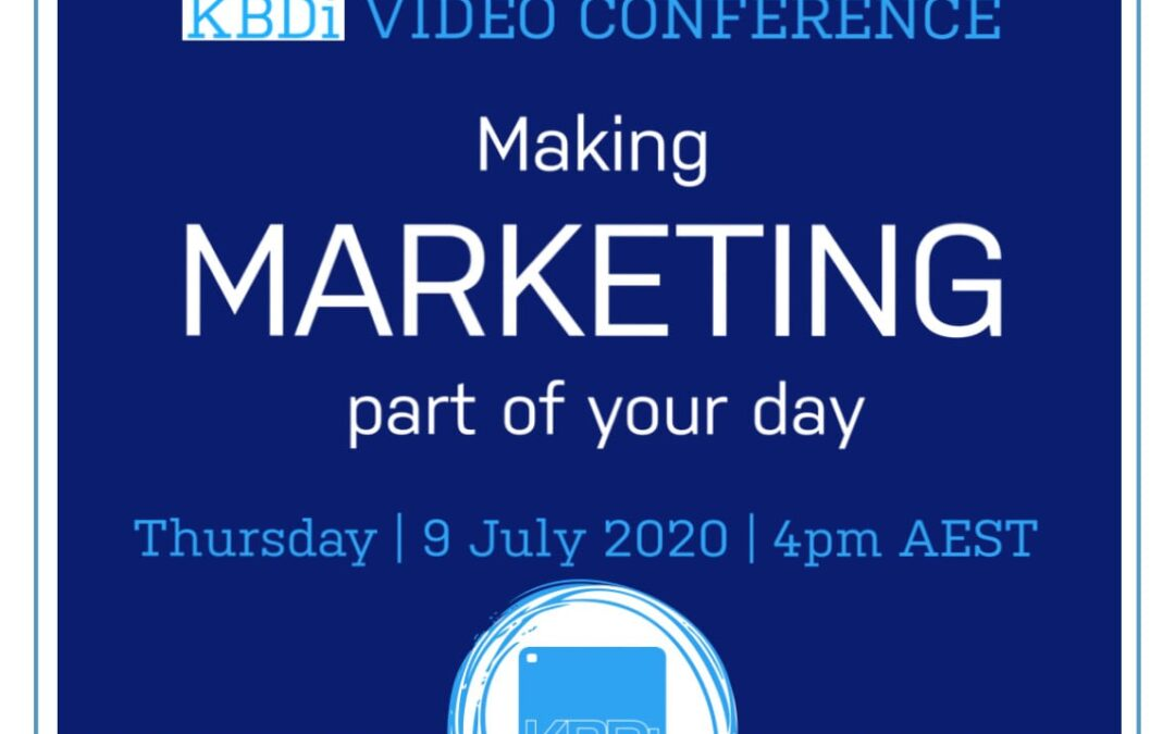 PD Thursday | Making marketing part of your day