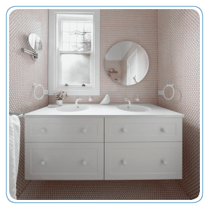 It's all about the pink grout!