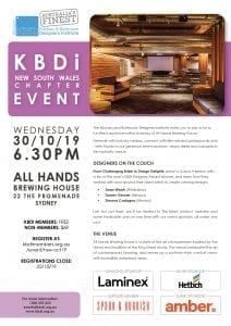 KBDi NSW Chapter Event - Oct 19