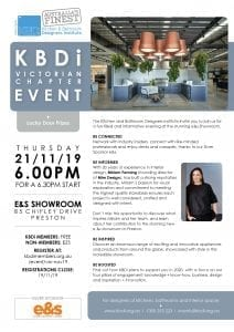 KBDi VIC Chapter Event Invitation - Nov 2019